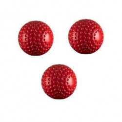 PU Dimple Cricket Ball (Red)- 3 Balls