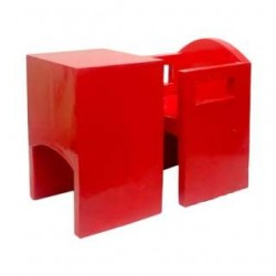 Red Study Single Seater Benches Set Of 6