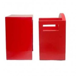Single Seater Red Bench Set