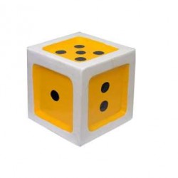 Unique Dice Stool For Kids-Yellow Color