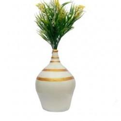 White/Golden Money Bank With Flower Vase