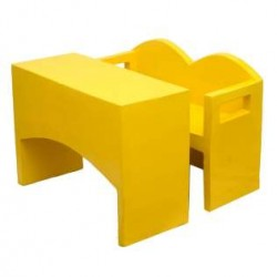 Yellow Fiber Desk-Bench For Kids (1-Set)