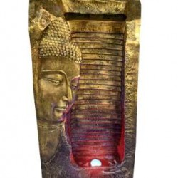 Buddha Side Face Fountain With LED Light