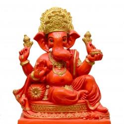 Lord Ganesha Idol-Sindoori Shade