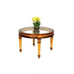Antique Round Trumpet Leg Table