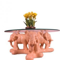 Center Table With Three Elephants
