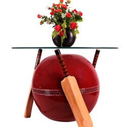 Cricket Bat And Bowl Shape Center Table