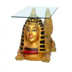 Egyptian Sphinx Lion Statue Table