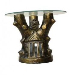 Metallic Golden Moonlight Side Table
