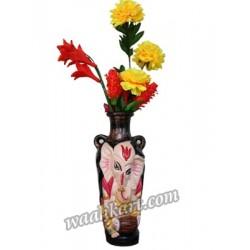 Divine Look Ganesha Flower Vase -Playing Dhol