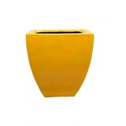 Yellow Square Shape Plant Pot
