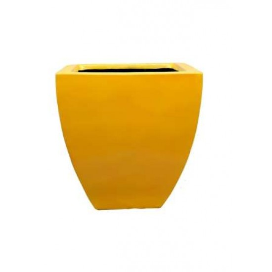 Yellow Square Shape Plant Pot