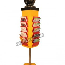 Adjustable Bookshelf With Lord Buddha Face Sculpture