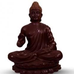 Gautam Buddha Sitting Pose- Brown