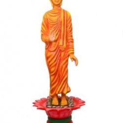 Gautam Buddha Statue Standing On Lotus Fountain
