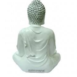 Lord Gautam Buddha Showpiece- Silver Shade