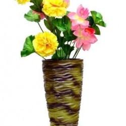 Green Metallic Cone Shaped Vase