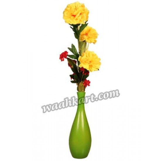 Decorative Plain Flower Vase Green