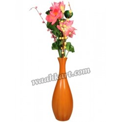 Decorative Plain Flower Vase Orange
