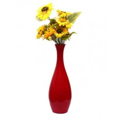 Decorative Plain Flower Vase Red