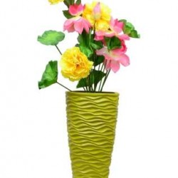 Handcrafted Green Cone Shaped Vase