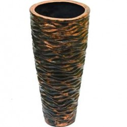 Cone Shaped Vase in Copper Shade