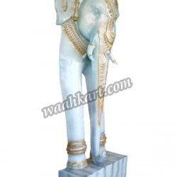 A Royal Elephant Welcome Statue in White Color