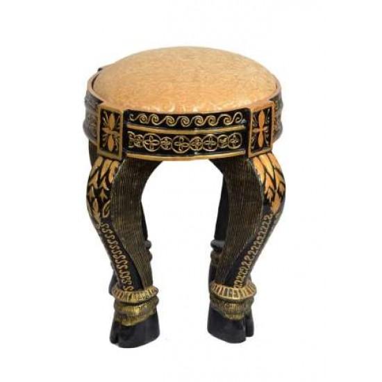 FRP Shahi Elephant Leg Look Brown Stool