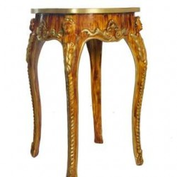 Wooden Look Antique French Style Stool